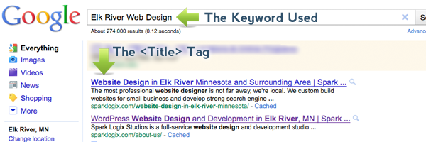Title Tag Location in Search Engine Inquiry