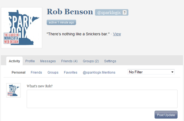 BuddyPress Example as seen on Spark Logix