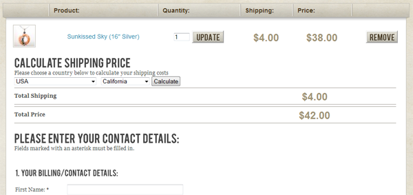 WP E-Commerce One Page Checkout